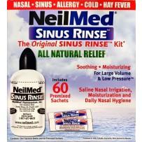 NeilMed Sinus Rinse Kit - 240ml Bottle and 60 Sachets