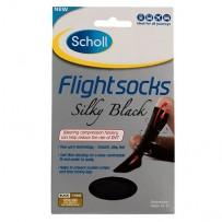 Scholl 爽健 飞行袜 1双(防静脉曲张/外出型/39-42码/女士/黑色/柔滑型)