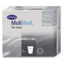 MoliMed For Men Ultra Active Incontinence Pouch 14's - for light flow