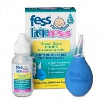 Fess 婴幼儿盐水通鼻剂(附吸鼻器) 25ml (缓解儿童感冒/过敏/窦炎及气候干燥引起的鼻腔堵塞干燥的症状)