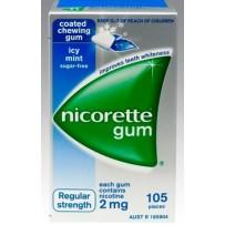 Nicorette 力克雷 2mg 冰凉薄荷口味戒烟口香糖 105粒