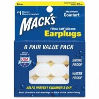 MACK'S Pillow Soft - Silicone Ear Plugs - 6 pairs