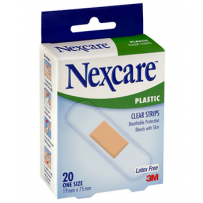 Nexcare - Clear plastic Strips 20's
