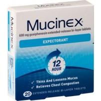 Mucinex Expectorant Tablets 20 每单限购2件