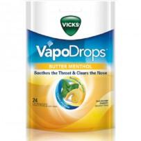 Vicks 润喉通鼻薄荷糖 24粒 黄油薄荷味(感冒喉痛鼻塞必备)