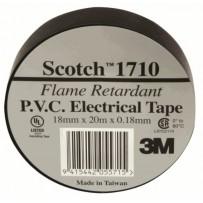 USL Electrical Tape BLACK - 18mm x 20m - For additional Fixation of tapes and dressings