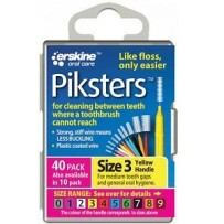 Piksters Interdental Toothbrush  Size 3 Yellow (40 Pack)
