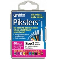 Piksters Interdental Toothbrush  Size 2 White (40 Pack)