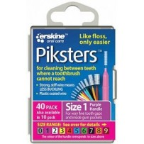 Piksters Interdental Toothbrush  Size 1 Purple (40 Pack)