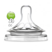 Philips Avent 新安怡 自然原生慢速流量奶嘴对装 适用于1月以上宝宝