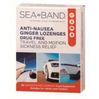 Sea-Band Anti-Nausea Ginger Lozenges 24pk