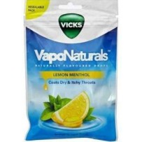 Vicks VapoNaturals Drops 70g - Lemon Menthol (approx 19 Drops)