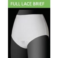 D>Brief Womens Full Lace Brief White - Small
