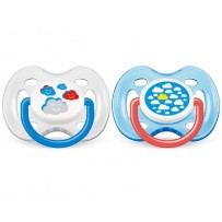 Philips Avent 新安怡 云朵图案安抚奶嘴 2个(0-6个月婴幼儿)