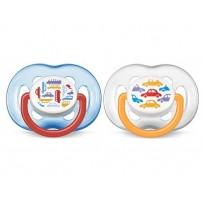 Philips Avent 新安怡 自由车图案安抚奶嘴 2个(6至18个月婴幼儿适用)