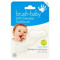 Brush Baby 婴幼儿咀嚼式乳齿牙刷/出牙嚼器 透明色