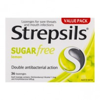 Strepsils Sugar Free Lemon Lozenges 36