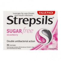 Strepsils Sugar Free Strawberry Lozenges 36