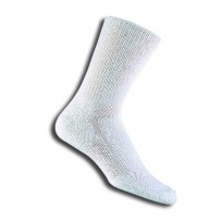 Thorlos Relaxed Fit Top Crew Socks - Medium White