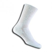 Thorlos Relaxed Fit Top Crew Socks - Large White