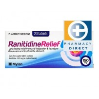 Ranitidine Relief 150mg Tablets 20