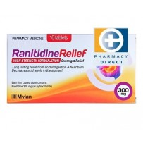 Ranitidine Relief 300mg Tablets 10