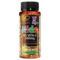 GO Healthy 高之源 260mg儿童维生素C咀嚼片 60片(黑加仑味)