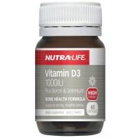 Nutralife 纽乐 1000IU 维生素D3胶囊(含硼+硒) 60粒