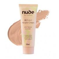 Nude By Nature 奇迹5合1天然植物精华BB霜(中色) 50ml