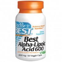 Doctor's Best 600mg 硫辛酸抗氧化胶囊 60粒