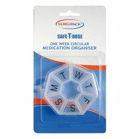 SurgiPack Safe-T-Dose 1 Week Circular Medication Organiser