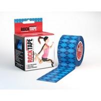 ROCKTAPE Kinesiology Tape Argyle Blue 5cm x 5m