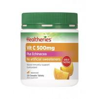 Healtheries 贺寿利 500mg 维生素C加紫锥花咀嚼片 200片